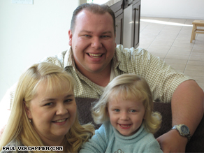 Derrick, and Mary Ann Lepley with their daughter, Melody.