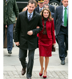 Prince Felipeand Princess Letizia of Spain arrive at The New York Public Library earlier this week.