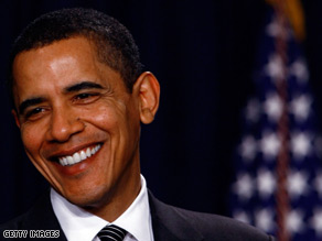 Obama spoke at two Democratic fundraisers in Washington on Thursday night.