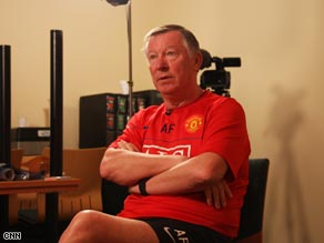 Alex Ferguson, pictured here being interviewed by CNN, has been a hero to fans of Manchester United for more than two decades.