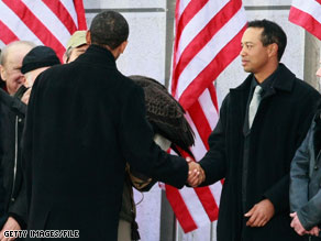 Golf great Tiger Woods met with President Obama at the White House Monday.