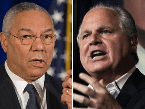 Rush Limbaugh criticized Colin Powell as being part of the 'stale, the old, the worn-out GOP.'