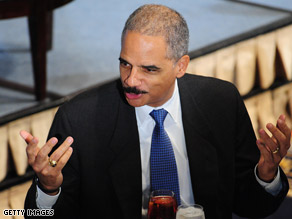 The Attorney General spoke at the National Press Club in Washington Wednesday.
