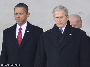 President Obama says he values the confidence of his predecessors.