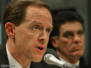 Toomey, a former congressman, is running for Senate in Pennsylvania.