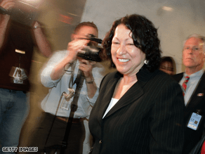 Sotomayor made the rounds on Capitol Hill Tuesday.