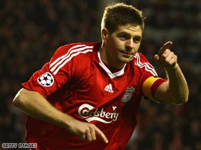 The all-action Gerrard had a vintage season for Liverpool.