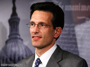 House Minority Whip Eric Cantor is criticizing the Obama administration's response to the political unrest in Iran.