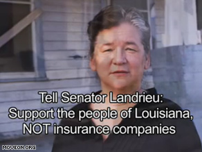 A new TV ad continues MoveOn's campaign to pressure Landrieu over a public option.
