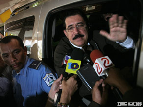 Ousted Honduran President Zelaya will meet with the Secretary of State.