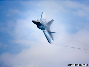 Sen. McCain is fighting to discontinue funding for seven new F-22 fighters.