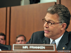 Sen. Franken was the last senator to give his opening statement Monday as the Sotomayor confirmation hearing got under way.