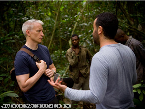 Anderson speaks with Dr. Nathan Wolfe, a virus hunter, in Cameroon about his research into the origins of Malaria.