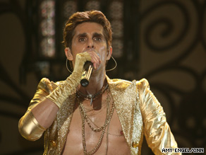 Jane's Addiction's frontman Perry Farrell performs during the final day of Lollapalooza 2009.