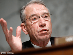 Grassley said he personally urged the president to make clear he is not wedded to a public option.