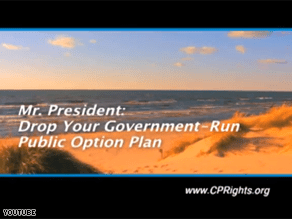 A new ad is directed at Obama while he vacations on Martha's Vineyard.