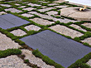 Kennedy may be buried at Arlington National Cemetery.