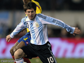 Lionel Messi could miss out on the 2010 World Cup if his team Argentina fail to improve.