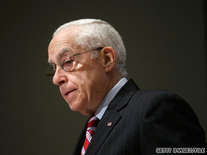 Thursday the current attorney general praised his predecessor Michael Mukasey, pictured.