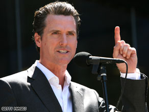 Former President Bill Clinton will endorse San Francisco mayor Gavin Newsom in the 2010 California governor's race.