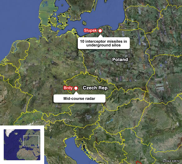 U.S. Missile Defense European Sites