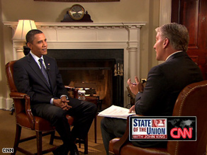 President Obama's full interview will air on State of the Union this Sunday, starting at 9 am ET.