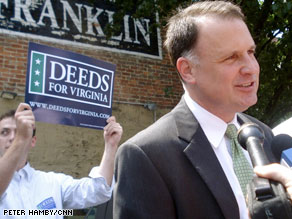 Democrat Creigh Deeds appeared at a candidate forum in northern Virginia on Tuesday.