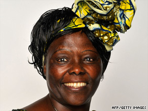 Wangari Maathai is the first African woman to receive the Nobel Peace Prize.