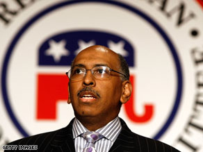 Republican National Committee Chairman Michael Steele endorsed Conservative Party candidate Doug Hoffman in NY-23's special election.