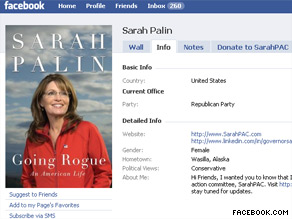 Former Gov. Palin posted a note on her Facebook page about Afghanistan Tuesday.