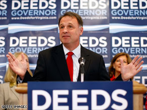 Will the endorsement of the Washington Post help propel Virginia Democratic gubernatorial hopeful Creigh Deeds to victory?
