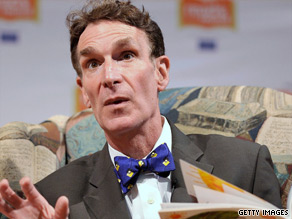 Comedian, scientist and engineer Bill Nye tries to make the realms of space and science accessible to the average person.