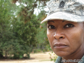 Command Sergeant Major Teresa King is the first woman commandant at the U.S. Army's Drill Sergeant School in Fort Jackson, South Carolina.