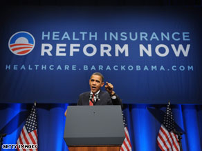 Americans are split right down the middle over President Barack Obama's health care reform proposals.