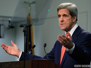 Sen. Kerry spoke about Afghanistan at the Council on Foreign Relations in Washington Monday.