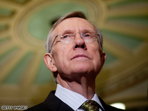 Senate Majority Leader Harry Reid (D-NV) spoke at a news conference on Capitol Hill yesterday in DC. Reid discussed efforts to pass health care reform legislation.