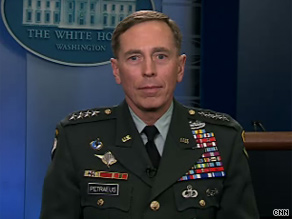 In an exclusive interview with CNN Wednesday, Gen. Petraeus closed the door to talk of him running for president in 2012.