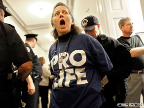 Pro-life protesters hit Capitol Hill earlier this month.