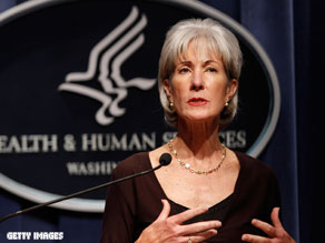 An intruder was allowed to reach the outer office of Health and Human Services Secretary Kathleen Sebelius.