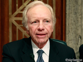 Sen. Joe Lieberman said the public option was not discussed much during the campaign.