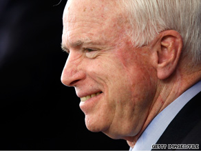 Sen. McCain makes a plea to voters in Arkansas, Colorado, Nebraska and North Dakota in a taped phone message.