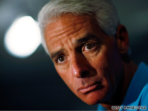 Florida Gov. Charlie Crist is in a tough Senate primary battle.
