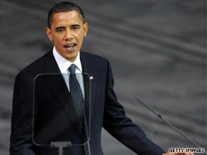 'I liked what he said,' former Alaska Gov. Sarah Palin said of the president's Nobel acceptance speech.