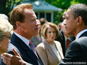 'He's a great speaker, a great communicator,' Gov. Schwarzenegger said of the president.