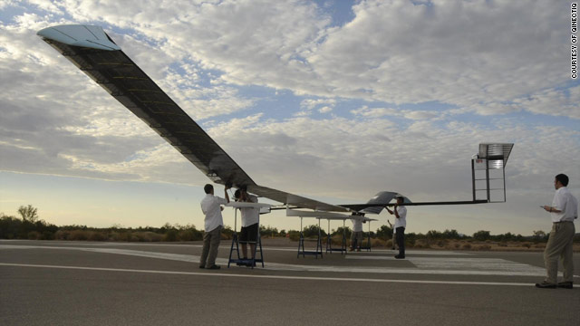 """QinetiQ's """"Zephyr"""" aircraft has been in the air for seven days smashing all previous records for unmanned flight."""