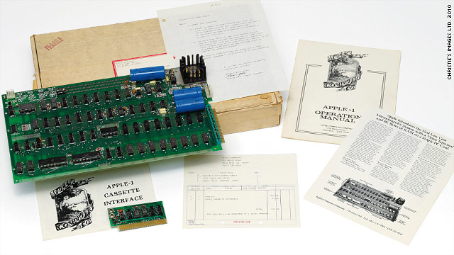 An original Apple-1 computer is going on auction. Estimated price? $161,600 to $242,000.