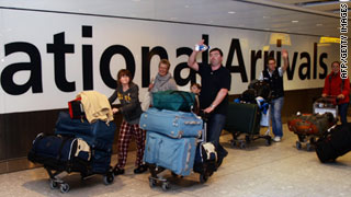 Airports across Europe began reopening Wednesday