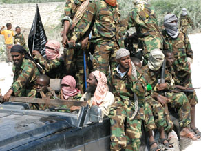 A photograph of Al-Shabaab circulating online.
