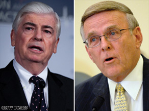 (L to R) Sen. Chris Dodd, D-CT and Sen. Byron Dorgan, D-ND