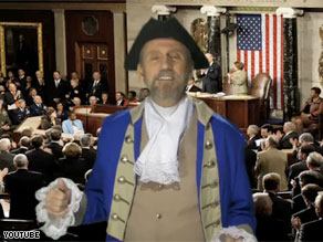 Songwriter Ray Stevens dresses as a founding father in his YouTube sensation 'We the People.'